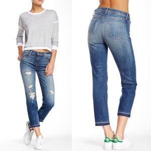 J Brand Maria High Rise Straight Crop in Blitz
